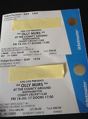 2x Olly Murrs Tickets - Platinum (Front Circle) View 14th Jul N'ton