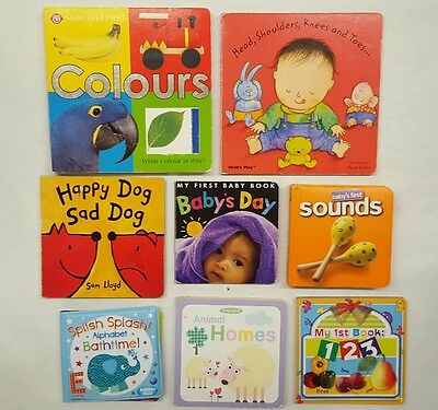 baby books 8 book bundle bath book sounds (6.5)