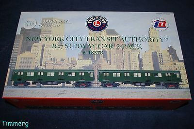 Lionel Trains 6-18378 New York City Transit Authority R27 Subway 2 Pack MIB **