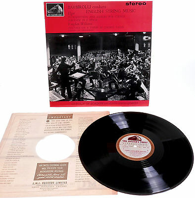 HMV ASD 521 W/g UK 1st STEREO*  BARBIROLLI English String Music ELGAR Williams
