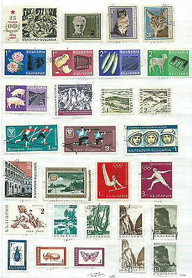 Bulgaria - 83 stamps mixed - Years 1961 to 1971