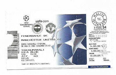 Ticket 2004/05 UEFA Champions League - FENERBAHCE v. MANCHESTER UNITED