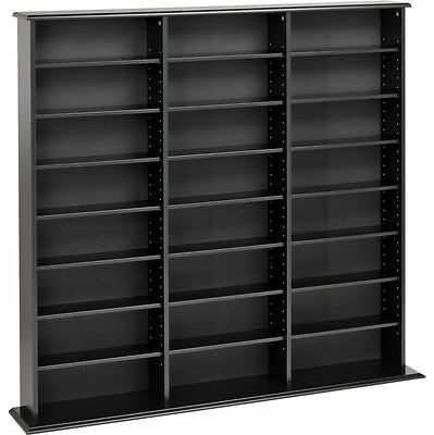 2 Of 4 Home DVD Storage Media Cabinet CD VHS Blu Ray Multimedia Wall Unit Tower Shelf