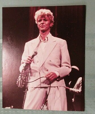 """DAVID BOWIE 8x10"""" color picture frameable photo ON STAGE Let's Dance poster NICE"""