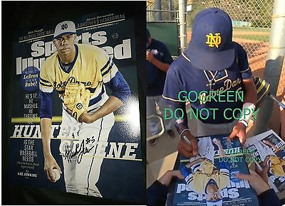 Hunter Greene signed Sports Illustrated SI Poster exact photo proof baseball