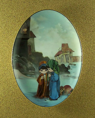 Murals From Precious Moments Chapel Coll THE HOUSE BUILT UPON THE ROCK Plate COA