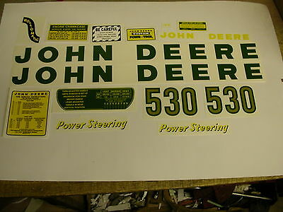 John Deere Model 530 Tractor Decal Set - NEW - FREE SHIPPING