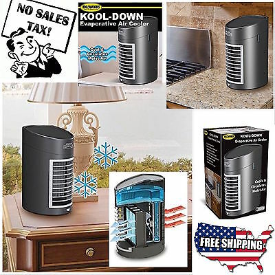 Portable Evaporative Air Cooler Fan Electric Home Office Small Air Conditioner