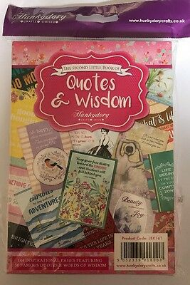 Hunkydory Crafts The Second Little Book Of Quotes And Wisdom New/Sealed