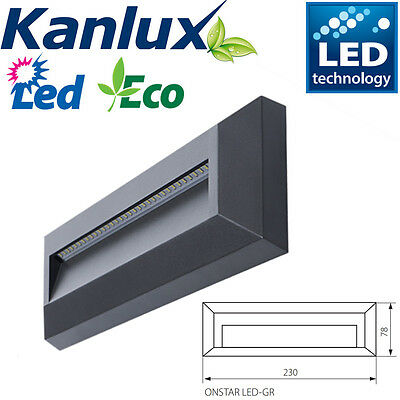 Kanlux Quality Black Plastic Outdoor Surface Mounted LED Brick Wall Light IP65