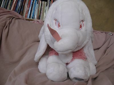 """SNOWBALL DUMBO White & Pink 10"""" Plush Stuffed Toy Doll DISNEY STORE EXCLUSIVE"""