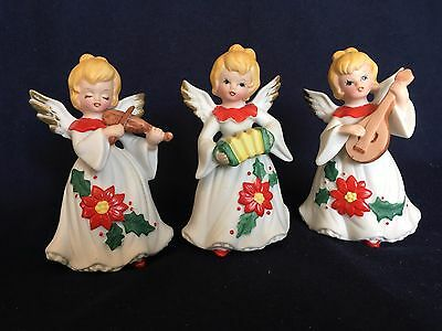 Set of 3 Angels Christmas Decor Figurines