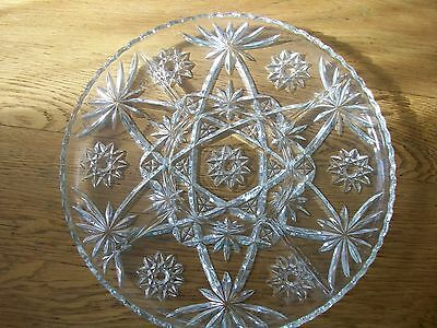 Anchor Hocking Early American Prescut Star Of David Divided Serving Tray