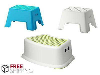 New Kids Single Step Stool Plastic Non Anti Slip Toilet Potty Training Children