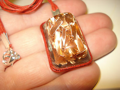 NEW  ENERGY  ORGONE  PENDANT (3X2cm)  COPPER  AND  REAL JEM  STONES