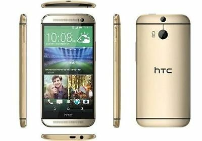 New HTC One M8 32GB Unlocked SIM Free Smartphone Android Mobile Gold Quad-Core