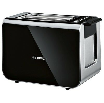 Bosch Styline TAT8613GB | 2 Slice Bread Toaster in Black