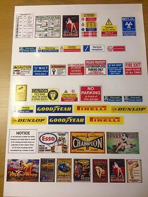 1/18 diorama garage signs posters safety signs combination  (sheet0002)