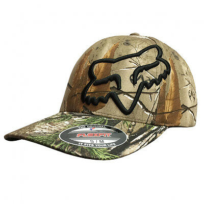 Fox Racing RealTree 45 Flexfit Camo Hat Adult Size S/M (SMALL/MEDIUM)