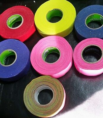 7 rolls of colored hockey tape  pink red yellow blue purple rainbow
