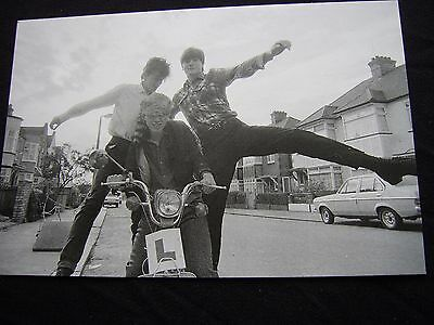 ORANGE JUICE GLASGOW SCOOTER SCENE RARE PHOTO/POSTCARD by Harry Papadopoulos