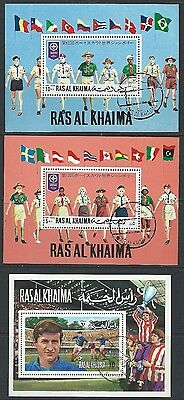 Ras Al Khaima - Souvenir Sheets Lot #5 1971 World Jamboree Andre Chorda Durer