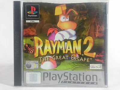 SONY PLAYSTATION 1 PS1 - Rayman 2 The Great Escape - PAL - BOX AND MANUAL ONLY