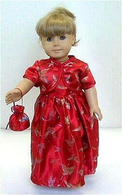"""US Seller Fits 18/"""" American Girl Doll Clothes Dress Christmas Outfit Xmas Gift"""