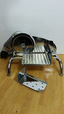 Rival chrome Electric Food Slicer meat cheese slicer w pusher 1101E/3