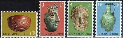 Luxembourg 1972 SG 886-889  Mi 842-5 MNH Museum Exhibits Gallo Roman Archaeology