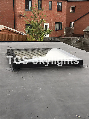 Flat Glass Rooflight Flat Roof Double Glazed 1000mm x 1000mm skylight - ANY SIZE
