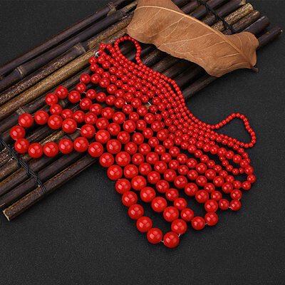 Red Coral Natural Stone Gemstone Jewellery Making Loose Spacer Beads Tools Kits