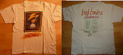Vintage BAD BRAINS Tshirt World Tour 1989 - Euro shows