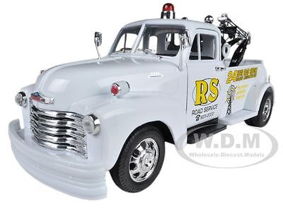 "1953 Chevrolet 3800 Tow Truck White ""road Service"" 1/24 By Welly 22086"