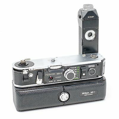 Nikon MD-2 Motor Drive with MB-1 Battery Pack for Nikon F2 Series 35mm Cameras