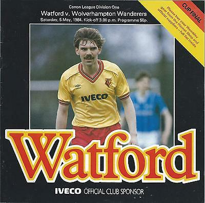 Watford v Wolverhampton Wanderers 5th May 1984 League Division One Programme