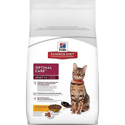 Hill s Science Diet Feline Adult Optimal Care Cat Food, 16 Pound