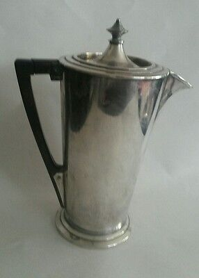 "1927 Art Deco Silver Plated ""Ile de France"" Cocktail Shaker by Meriden Silver Co"