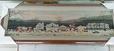 Norman Rockwell Main Street Stockbridge 1991 Sealed New Framed Canvas