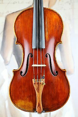 An old antique Italian violin c.1940 - Stunning maple back