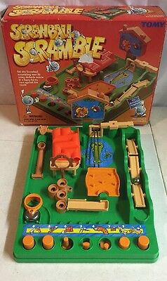 SCREWBALL SCRAMBLE Game 2004 TOMY 5 Yr+ Maze Obstacle Course DEXTERITY PRACTICE!