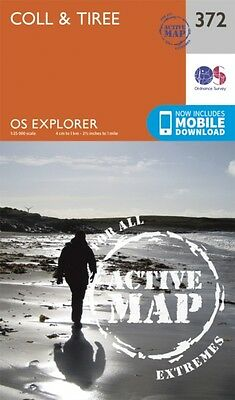 OS Explorer Map Active (372) Coll and Tiree (OS Explorer Active Map) (Map), Ord.