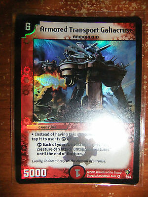 Duel Masters Armored Transport Galiacruse Mint Condition