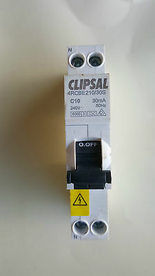 Clipsal 10A RCBO RCD MCB Safety Switch Circuit Breaker Double Pole 4RCBE210/30S