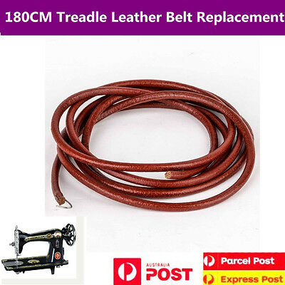180CM Treadle Leather Belt Replacement Singer Jones Sewing Machine Part W/ Hook