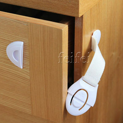 10Pcs Baby Child Pet Safety Safe Lock Fridge Toilet Drawer Cabinet Cupboard Door