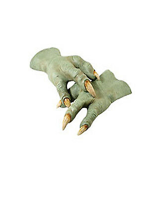 Star wars Jedi Master Yoda Latex Alien Green Hands Adult Size