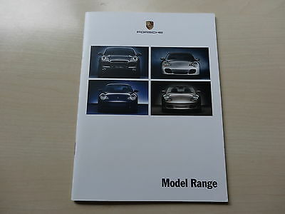 PORSCHE 911 CARRERA, Turbo, GT2, Boxster, CAYENNE UK Brochure 07/02 NUOVO , OLD