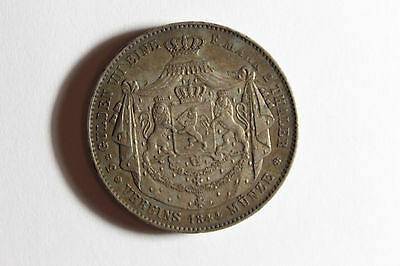 Germany 1844 Hessen 2 Thaler Silver Coin