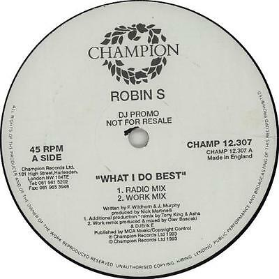 "Robin S What I Do Best / Show Me Love UK 12"" vinyl single record (Maxi) promo"